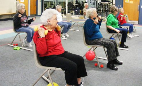Arm Chair Aerobics Fitness Class